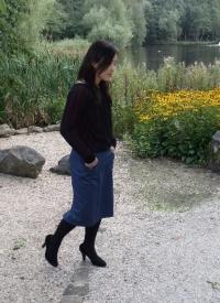 Musubi skirt and Lace top