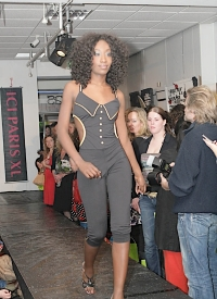 Lovely catsuit for Open Shop fashion show.