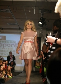 Pink dress on the runway. You go Wendalin!