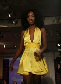 Beautiful yellow dress.