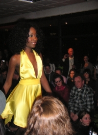 Edselline wearing my yellow dress. Taken from the audience.
