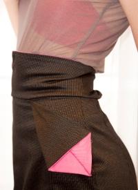 Tsuru skirt detail origami